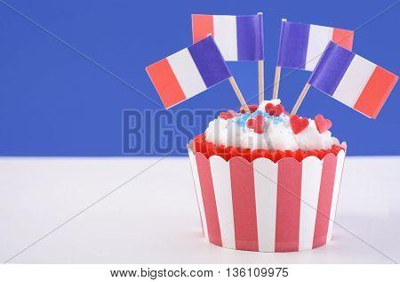Happy Bastille Day Cupcake.