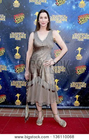 arrives at the 42nd Annual Saturn Awards on Wednesday, June 22, 2016 at the Castaway Restaurant in Burbank, CA.