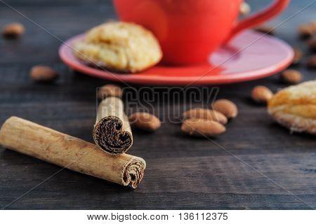 Cinnamon Sticks Closeup Shallow Depth Of Field