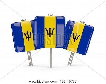 Flag Of Barbados, Three Square Pins
