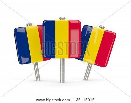 Flag Of Chad, Three Square Pins