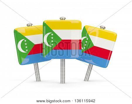 Flag Of Comoros, Three Square Pins