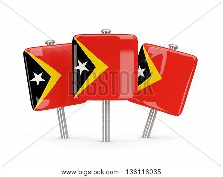 Flag Of East Timor, Three Square Pins