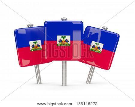 Flag Of Haiti, Three Square Pins