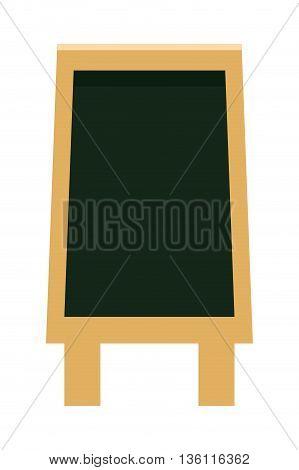 simple flat design black board menu vector illustration
