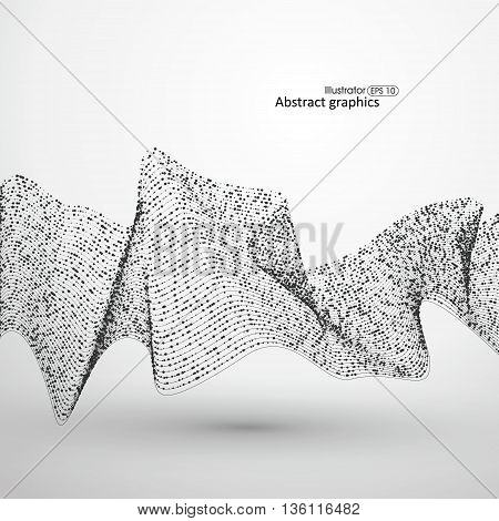 Point flow line pattern composed of,Abstract illustration.