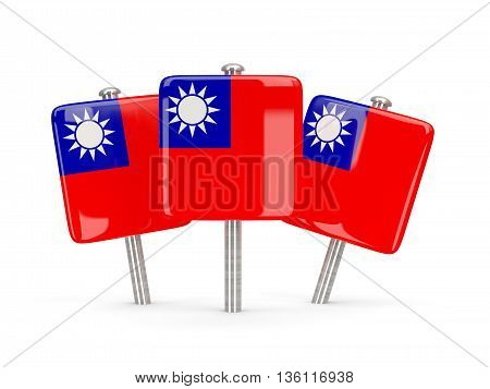 Flag Of Republic Of China, Three Square Pins
