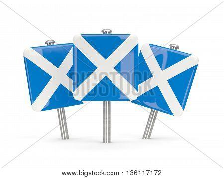 Flag Of Scotland, Three Square Pins