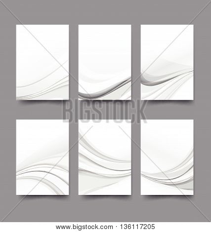 Abstract background collection of curve wave grey and white background vector illustration eps10