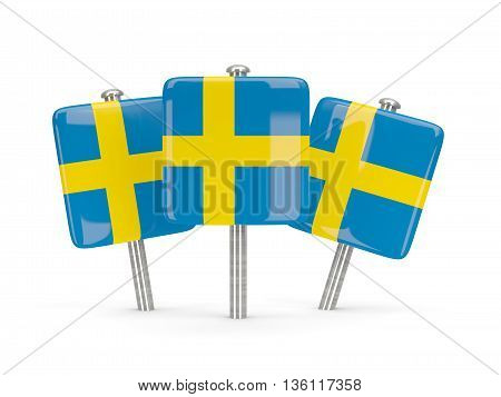Flag Of Sweden, Three Square Pins