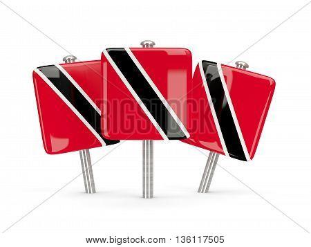 Flag Of Trinidad And Tobago, Three Square Pins