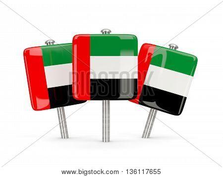 Flag Of United Arab Emirates, Three Square Pins