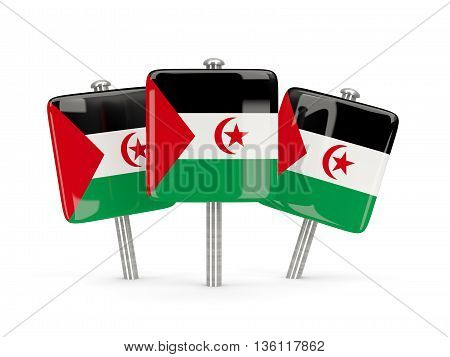 Flag Of Western Sahara, Three Square Pins