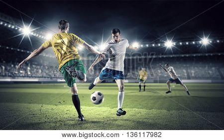 Hot football moments . Mixed media
