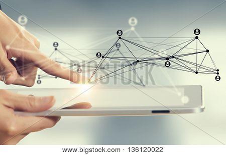 Cloud computing user interface . Mixed media