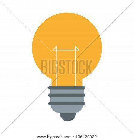 simple flat design yellow lightbulb icon vector illustration