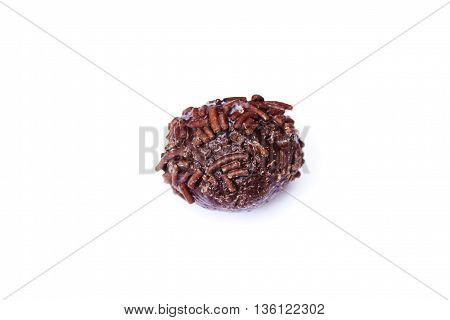 cocada with chips chocolate isolated white background