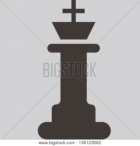 Silhouette of a chess piece - chess king icon