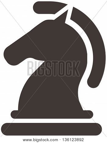 Silhouette of a chess piece - chess knight icon