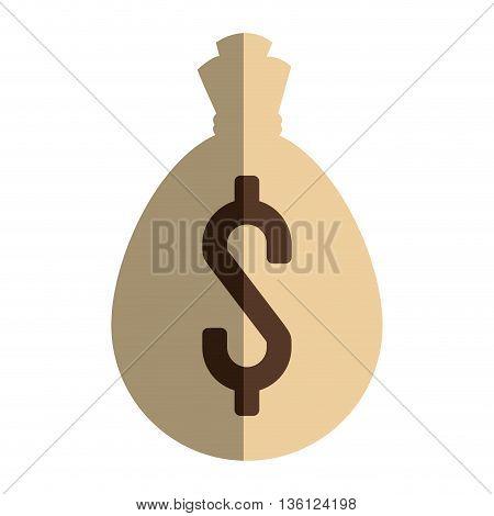 simple flat design money bag icon vector illustration