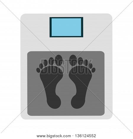 simple flat design weight scale icon vector illustration