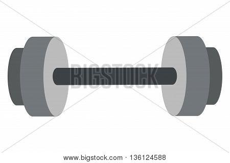 simple flat design barbell icon vector illustration