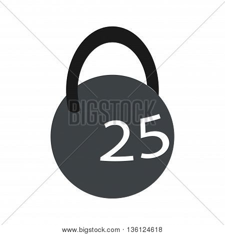 simple flat design kettlebell with number icon vector illustration