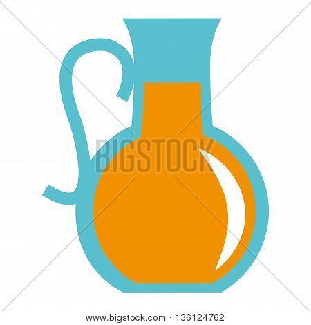 simple flat design pitcher with orange liquid icon