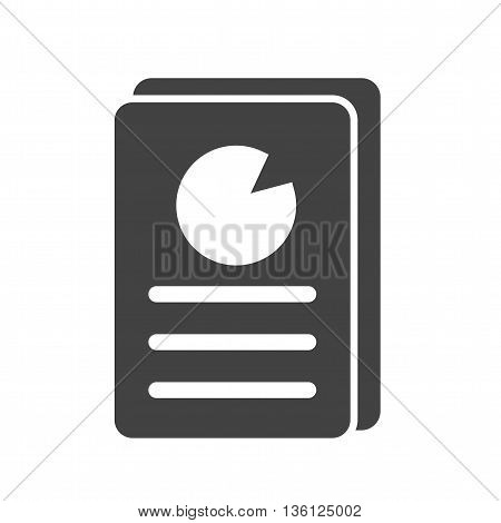 Reports, business, chart icon vector image. Can also be used for networking. Suitable for web apps, mobile apps and print media.