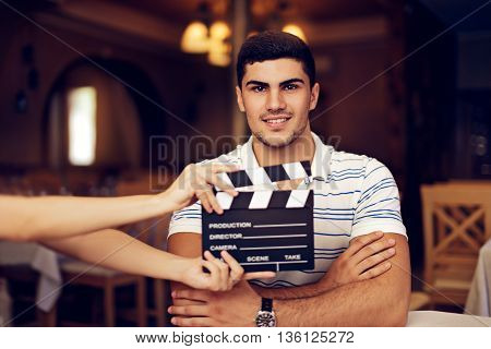 Professional Actor Ready for To Shoot New Scene