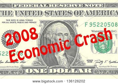 2008 Economic Crash - Business Concept