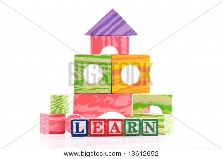 Basic Education With Building Blocks And Shapes