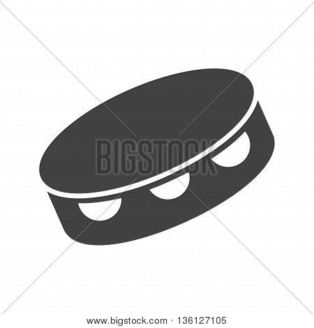 Tambourine, drum, instrument icon vector image.Can also be used for music. Suitable for mobile apps, web apps and print media.