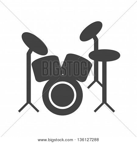 Drum, set, drummer icon vector image. Can also be used for music. Suitable for web apps, mobile apps and print media.