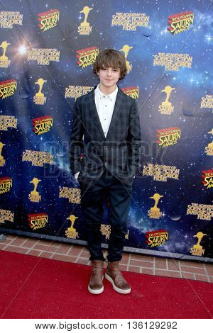 Max Charles arrives at the 42nd Annual Saturn Awards on Wednesday, June 22, 2016 at the Castaway Restaurant in Burbank, CA.