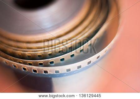35 Mm Film Reel Perforations Spool, Movie Symbol