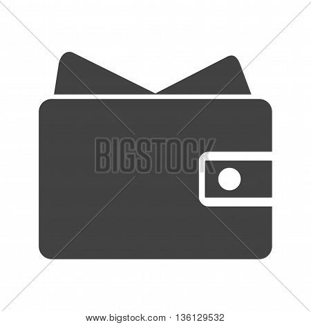 Wallet, purse, money bag icon vector image.Can also be used for shopping. Suitable for web apps, mobile apps and print media.