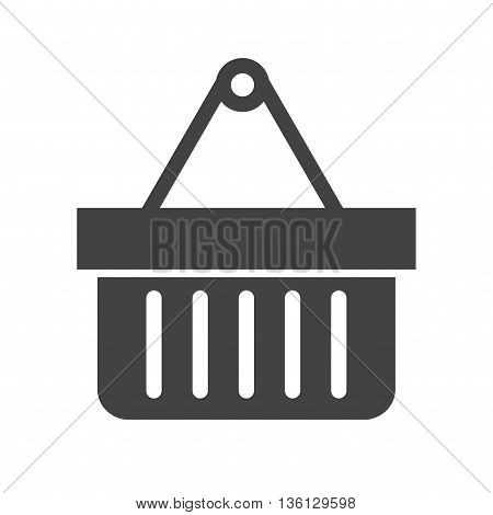 Basket, shopping, buy icon vector image.Can also be used for shopping. Suitable for use on web apps, mobile apps and print media.
