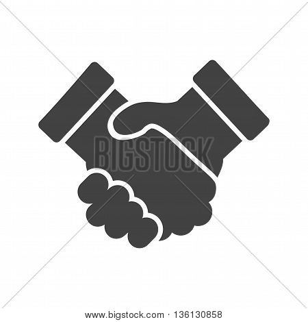 Business, handshake, trust icon vector image. Can also be used for customer services. Suitable for use on web apps, mobile apps and print media.