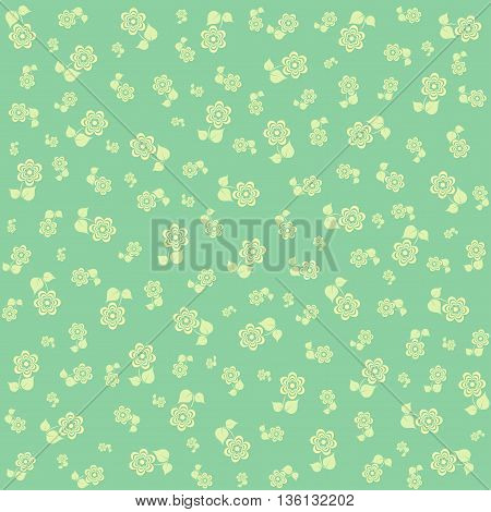 Abstract floral pattern in pale green tones