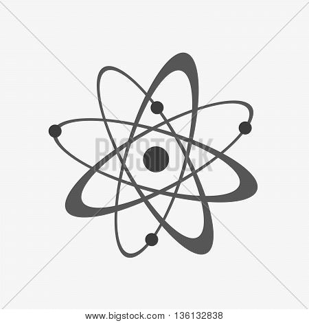 Atom icon - vector illustration. Flat sign of atomic energy.