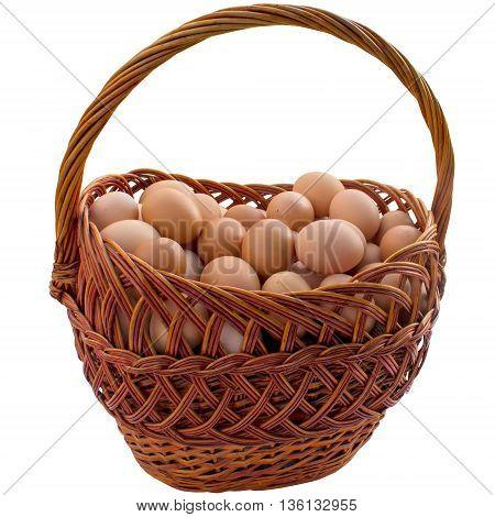 Food egg basket chicken eggshell breakfast easter healthy ingredient fresh.