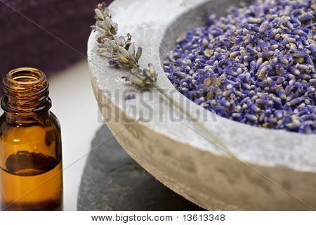 Wellness Care Products With Lavender Seeds And Oil
