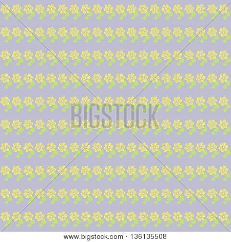 Wallpaper pattern with flowers in pastel tones