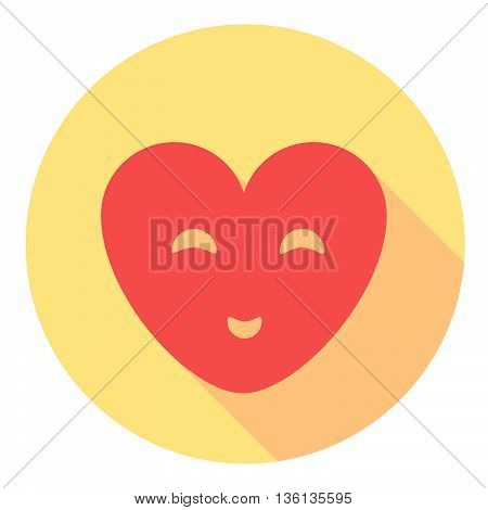 Smiling Heart Flat Icon