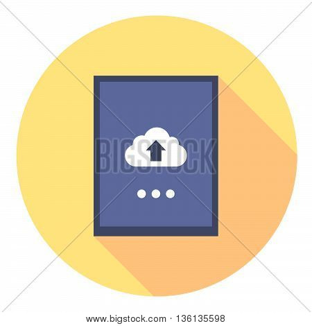 Tablet Mobile Cloud Flat Icon