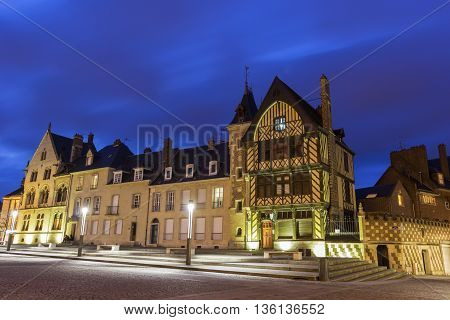 View on Amiens in France in Europe