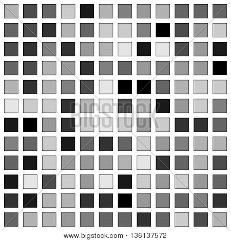 abstract background from randomly toned to grayscale squares. Stock vector illustration