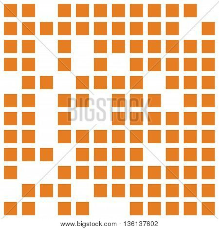 abstract background from color orange squares. Stock vector illustration