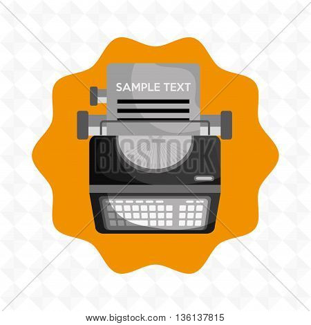 type writer  design, vector illustration eps10 graphic